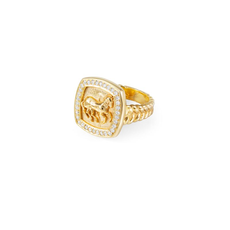 Vincent Peach Finnhorse Gold Ring