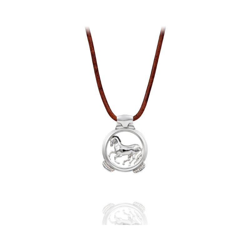 Vincent Peach Sterling Finnhorse Necklace