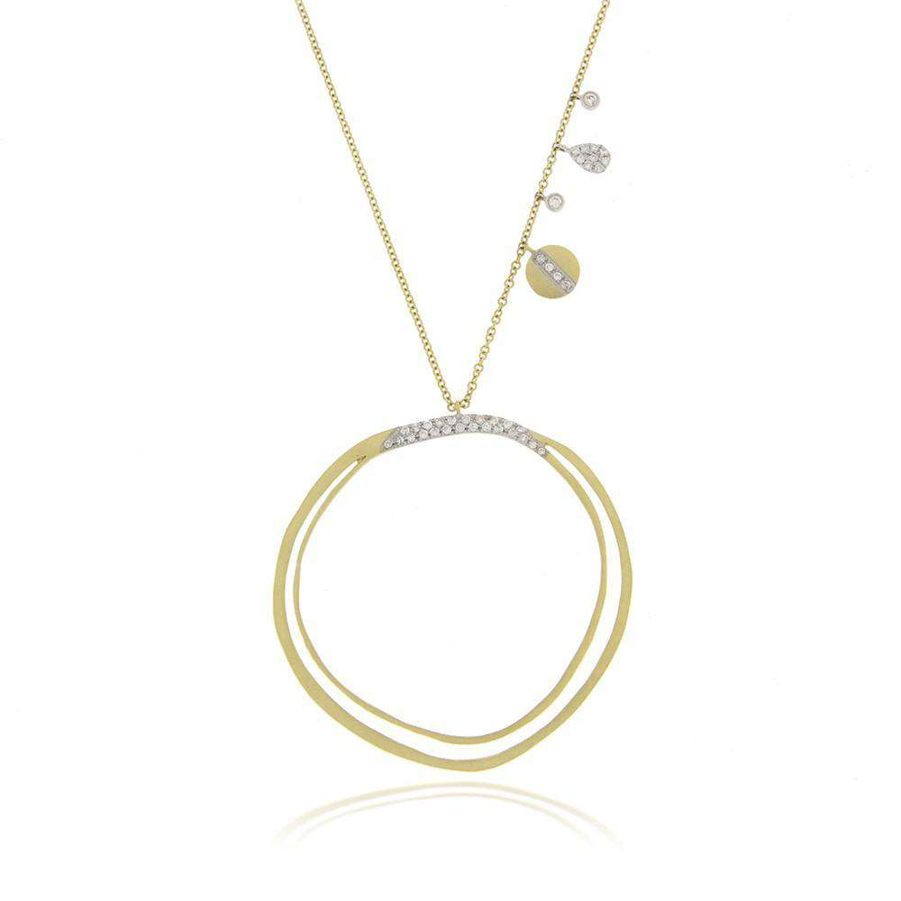 Meira T Yellow Gold Hoop Necklace