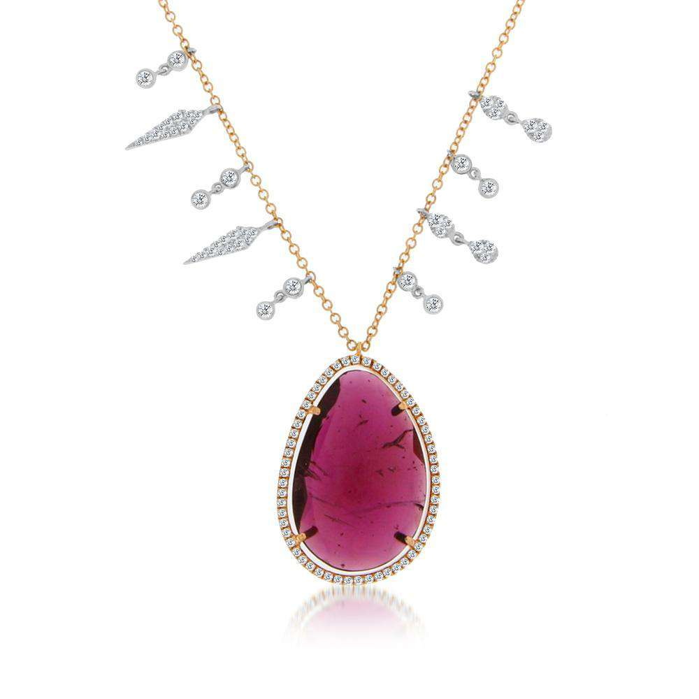 Meira T Watermelon Tourmaline Charm Necklace
