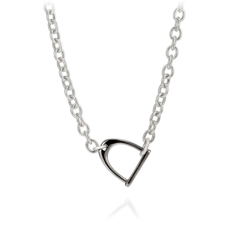 Vincent Peach Chain Stallion Necklace