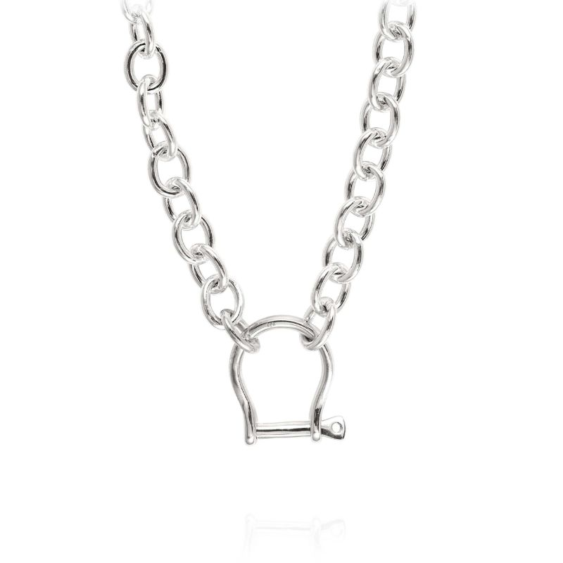 Vincent Peach Shackle Necklace
