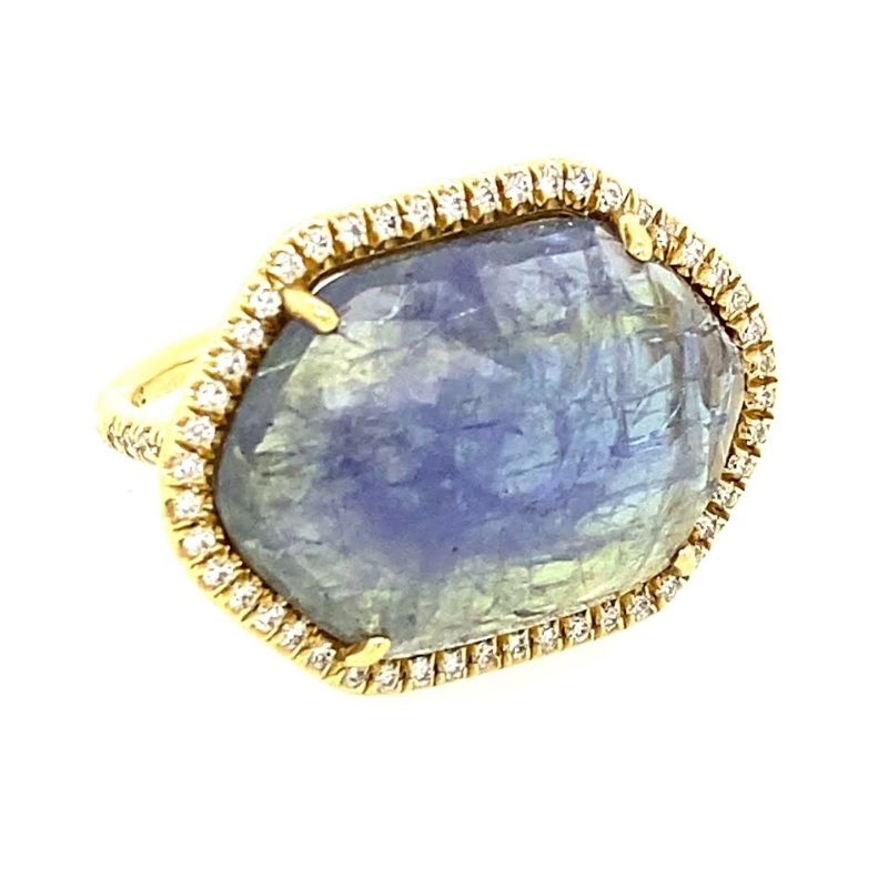 Lauren K Rose Cut Tanzanite Hexagon Mischa Ring