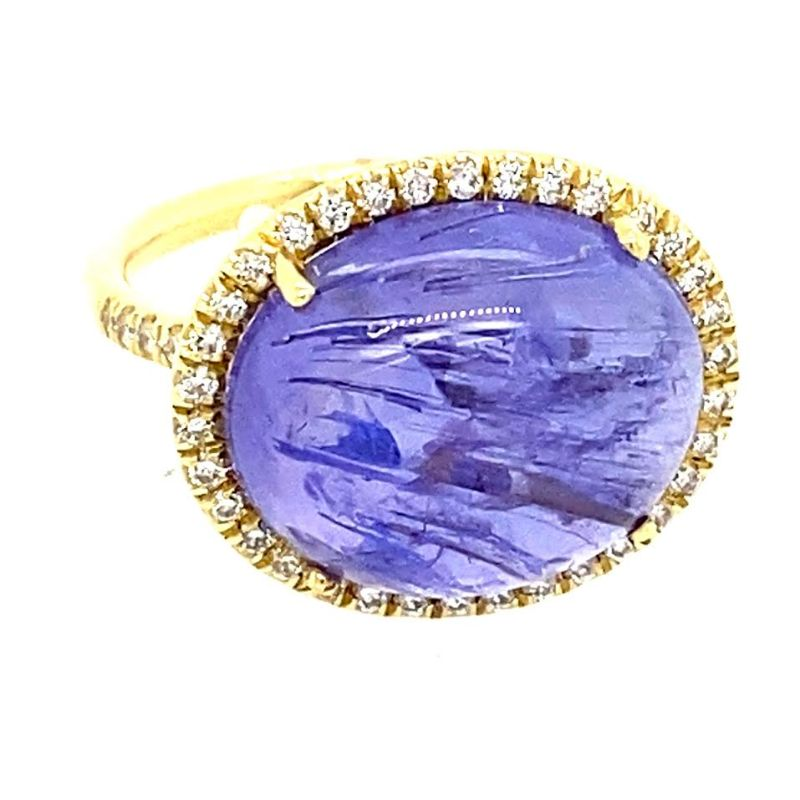 Lauren K Cabochon Tanzanite Mischa Ring
